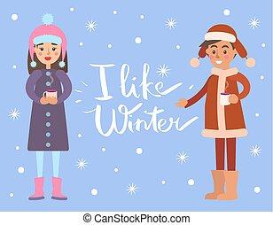copos de nieve, vector, como, ilustración, invierno