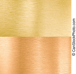copper and gold metal textures