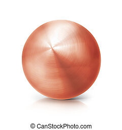 copper ball 3D illustration