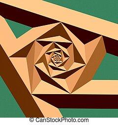 It's a spiral fractal copper bar like.