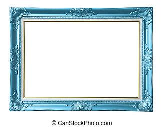 Copper-blue photo frame