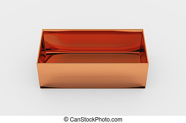 copper box tray high angle - copper material of rectangle...