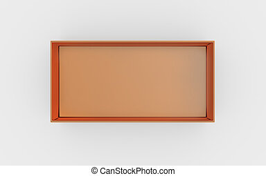copper box tray top view - copper material of rectangle box...