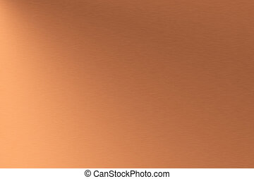 Copper brushed metal as background
