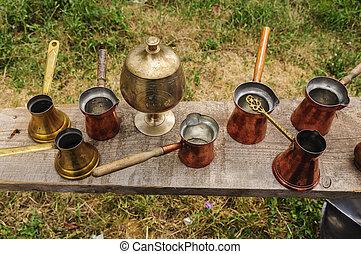 Copper coffee pots