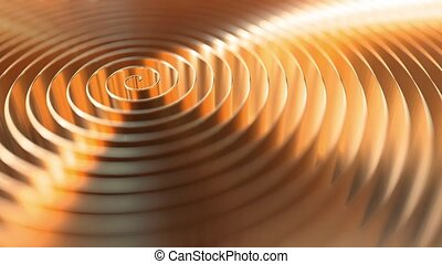 Copper coil, shallow focus. Loopable motion background -...