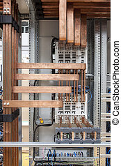 Copper electrical panel construction detail