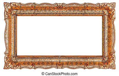 Copper frame with empty background copy space - Stock image