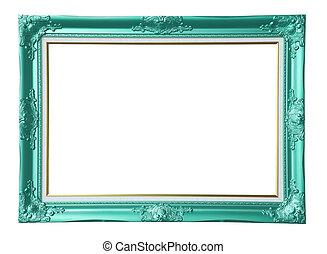 Copper-green photo frame