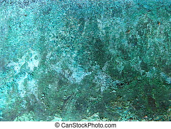 copper metal corrosion - macro from copper metal corrosion