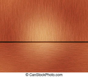 Copper Metallic Texture Brushed Metal