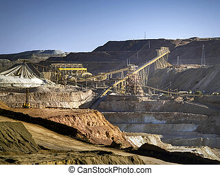 Exploitation of copper in middle Chile, region of Coquimbo