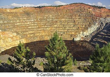 Copper mine open pit Atalaya.