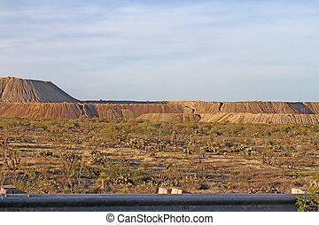Copper Mine Tailings - Old copper mine trailings spread over...