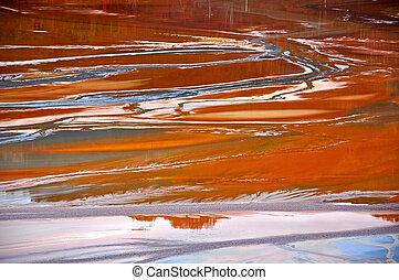 Copper mine water contamination in Geamana