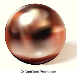Copper or brass ball
