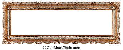 Copper picture frame with empty background copy space - Stock image
