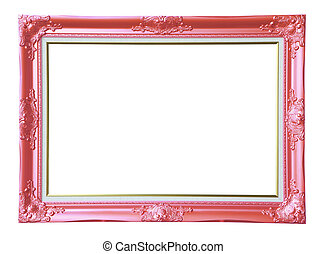Copper-pink photo frame