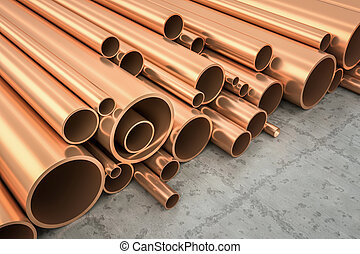 Copper Pipes - An image of some nice copper pipes in a...