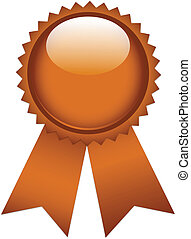 Copper ribbon prize tags
