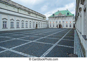 Copper-Roof Palace. State Museum and Exhibition Hall in Old Town in Warsaw, Poland