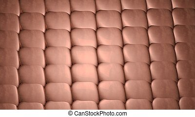 copper, seamless pattern background. 3d render illustration
