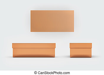 copper shoes box three side - copper material of rectangle...