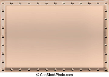 Copper Sign Background Rivets