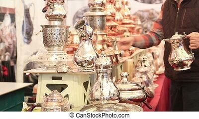 Copper, silver kitchenware - Copper, silver kitchenware and...
