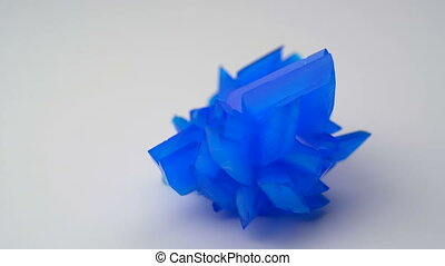 copper sulphate crystal on white background