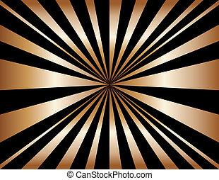 Copper Sunburst Background