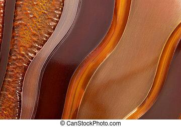 Copper Textures - Background of beaten copper textures, in...
