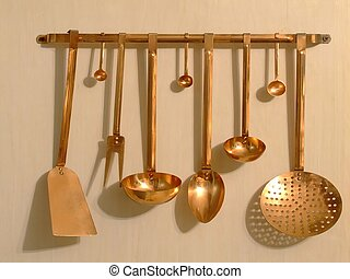 copper utensils - copper  kitchen utensils