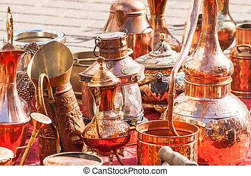copper utensils flea market