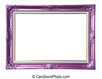 Copper-violet photo frame