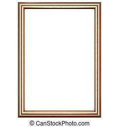 Copper wooden frame