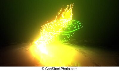 copperhead, venimeux, serpent, laser, animation, lumière