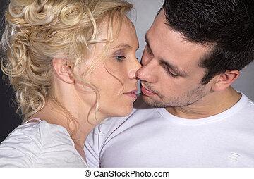 coppia, amoroso, genitori
