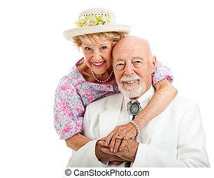 coppia, anziano, dolce, meridionale