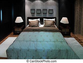 coppia, camera letto