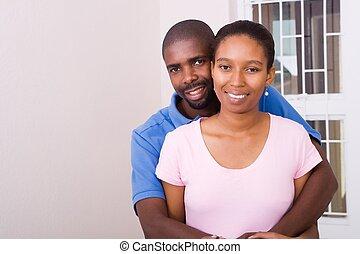 coppia, carino, africano
