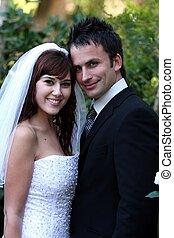 coppia, carino, matrimonio
