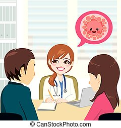 coppia, clinica fertilità