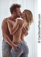 coppia, durante, preliminari amorosi