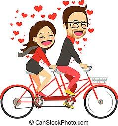 coppia, equitazione bicicletta, valentina