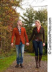coppia felice, è, godere, il, tempo