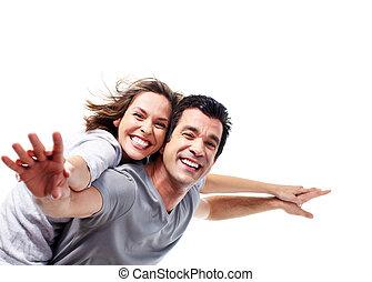 coppia., felice