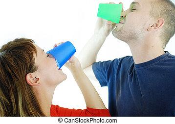coppia felice, bevanda