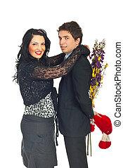 coppia felice, celebrare, giorno valentine