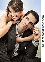 coppia, felice, matrimonio